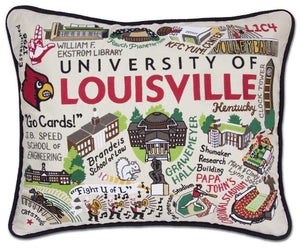 University of Louisville Catstudio Embroidered Pillow-Pillow-CatStudio-Top Notch Gift Shop
