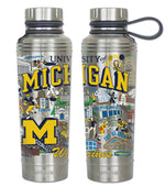 Michigan Wolverines Thermal Water Bottle-Water Bottle-CatStudio-Top Notch Gift Shop