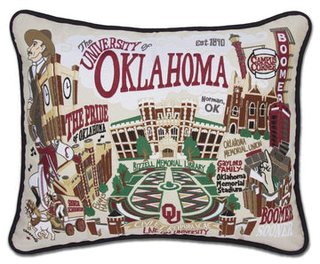 University of Oklahoma Pillow by Catstudio