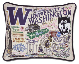 University of Washington Embroidered CatStudio Pillow-Pillow-CatStudio-Top Notch Gift Shop