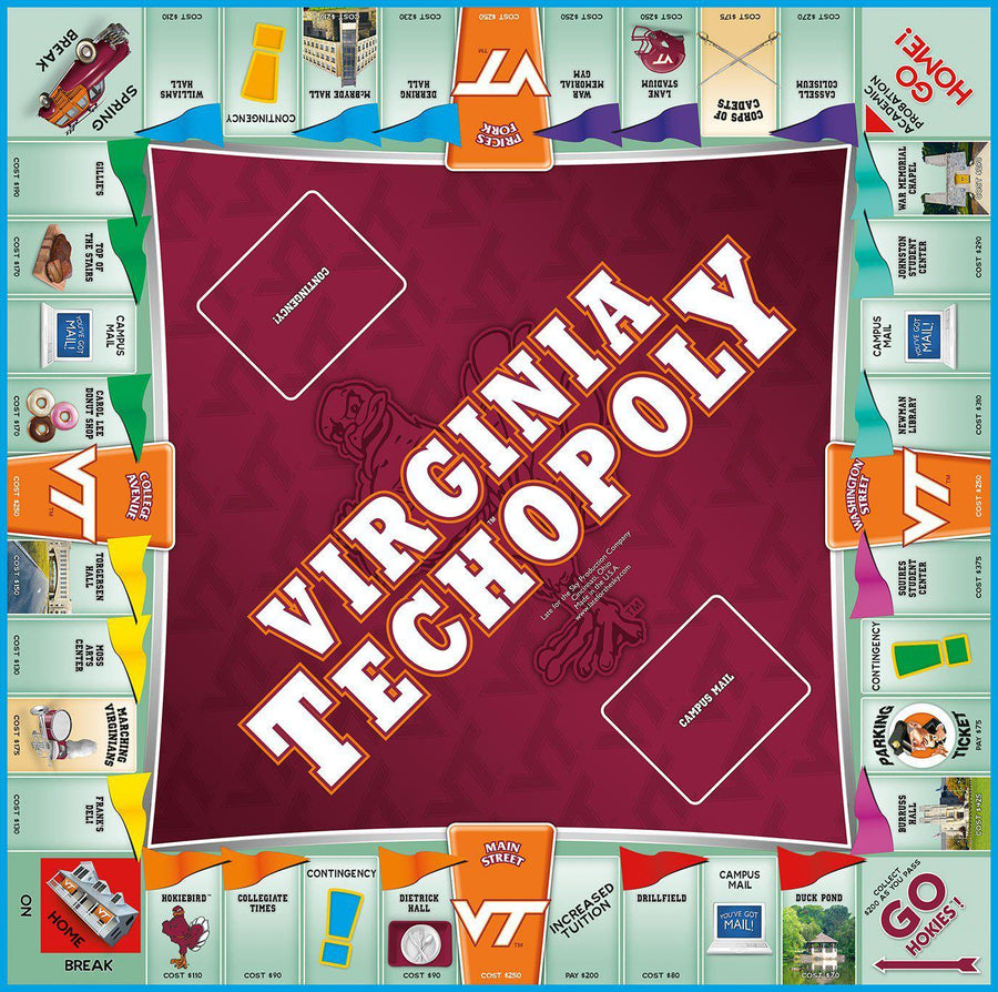 VA TECH-opoly Virginia Tech Monopoly Game-Game-Late For The Sky-Top Notch Gift Shop