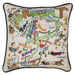 Vermont Hand Embroidered Catstudio State Pillow-Pillow-CatStudio-Top Notch Gift Shop