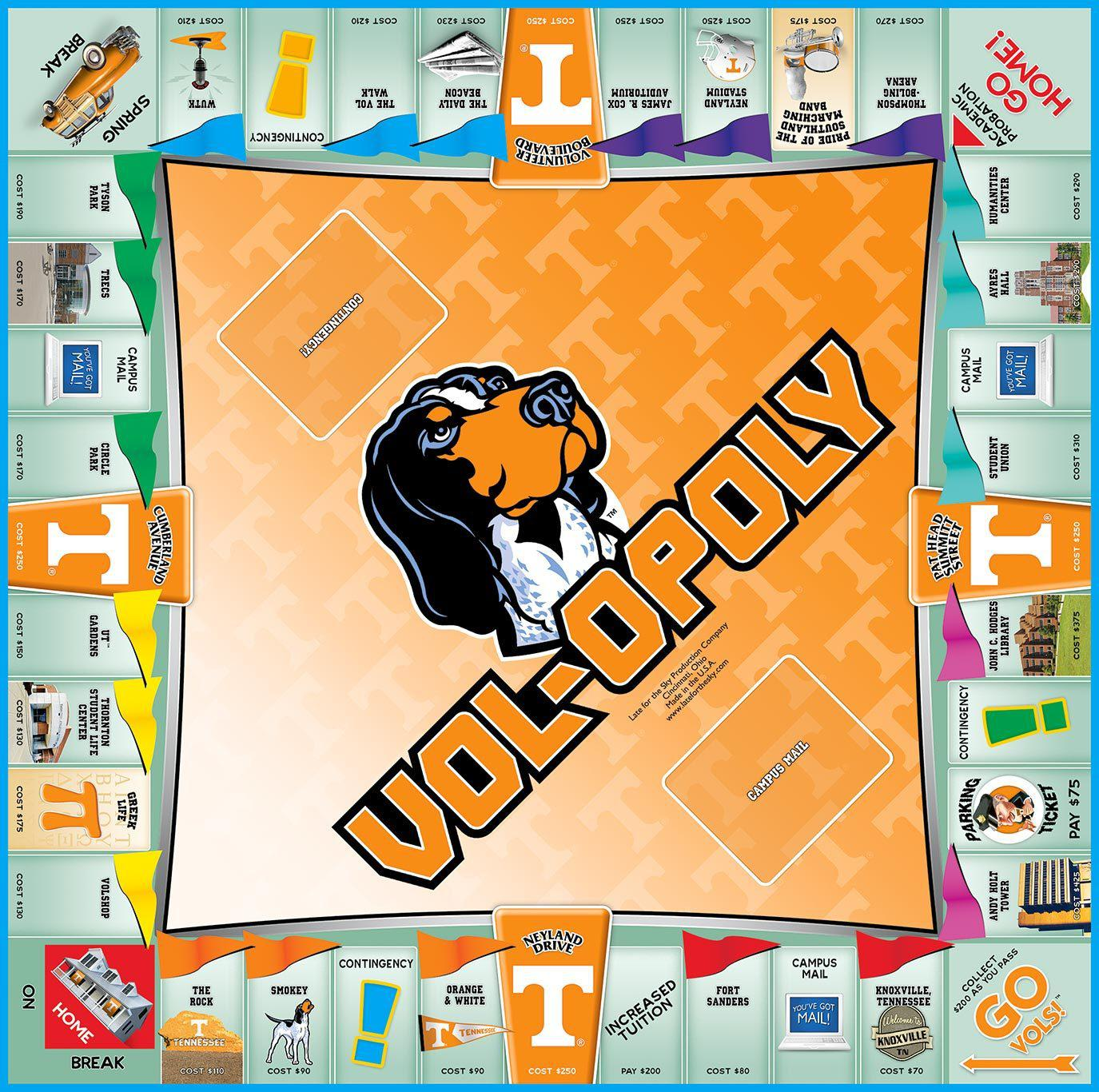 Vol-opoly Tennessee Monopoly Board Game-Game-Late For The Sky-Top Notch Gift Shop
