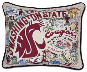 Washington State University Embroidered CatStudio Pillow-Pillow-CatStudio-Top Notch Gift Shop