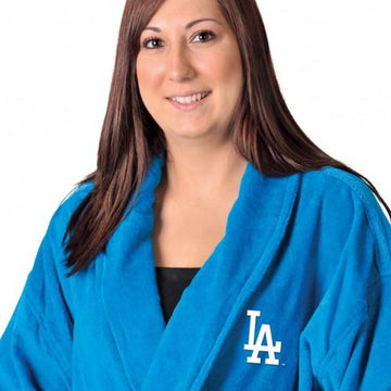 Los Angeles Dodgers Blue Terrycloth Bathrobe