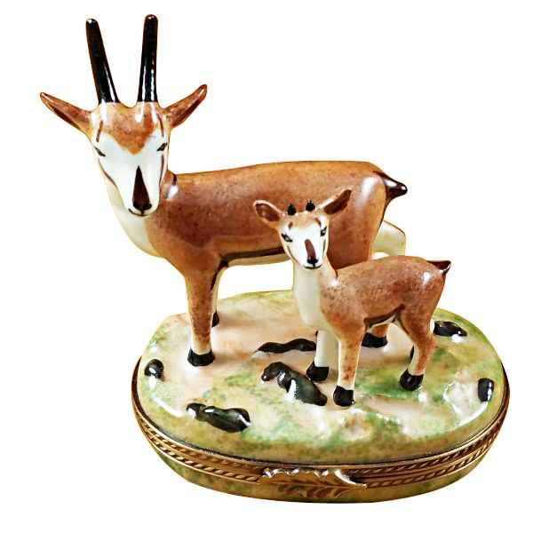 African Antelope W/ Baby Limoges Box by Rochard™-Rochard-Top Notch Gift Shop