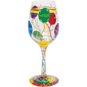 Aged to Perfection Wine Glass by Lolita®-Wine Glass-Designs by Lolita® (Enesco)-Top Notch Gift Shop
