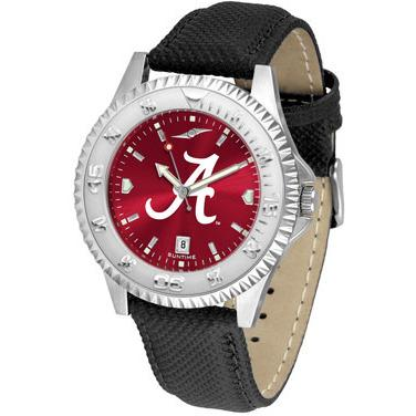 Alabama Crimson Tide Competitor AnoChrome - Poly/Leather Band Watch-Suntime-Top Notch Gift Shop