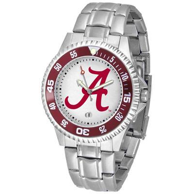 Alabama Crimson Tide Competitor - Steel Band Watch-Suntime-Top Notch Gift Shop