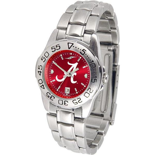 Alabama Crimson Tide Ladies AnoChrome Steel Band Sports Watch-Suntime-Top Notch Gift Shop
