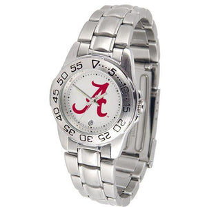 Alabama Crimson Tide Ladies Steel Band Sports Watch-Watch-Suntime-Top Notch Gift Shop