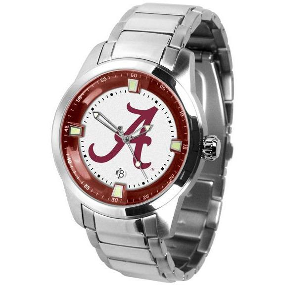 Alabama Crimson Tide Men's Titan Stainless Steel Band Watch-Watch-Suntime-Top Notch Gift Shop