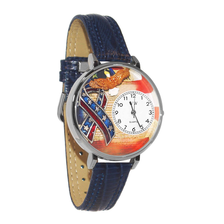 American Patriotic Watch in Silver (Large)-Whimsical GiftsTop Notch Gift Shop