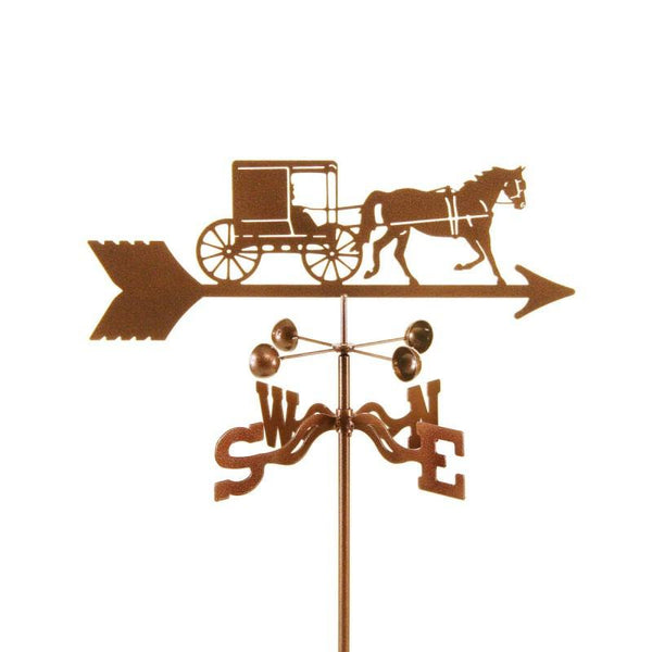 Amish Horse Buggy Weathervane-Weathervane-EZ Vane-Top Notch Gift Shop