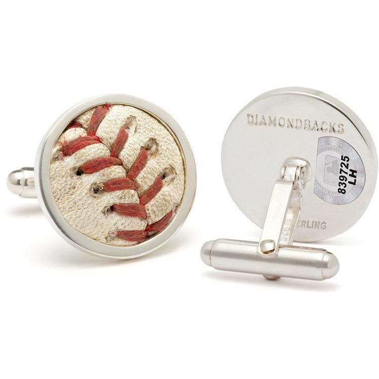 Arizona Diamondbacks MLB Authenticated Game Used Baseball Stitches Cuff Links-Tokens & Icons-Top Notch Gift Shop
