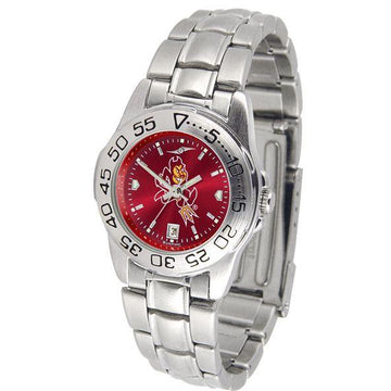 Arizona State Sun Devils Ladies AnoChrome  Steel Band Sports Watch