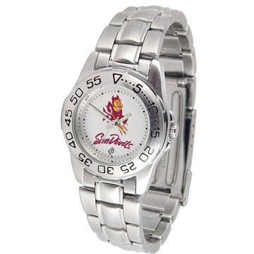 Arizona State Sun Devils Ladies Steel Band Sports Watch