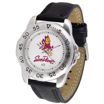 Arizona State Sun Devils Mens Leather Band Sports Watch