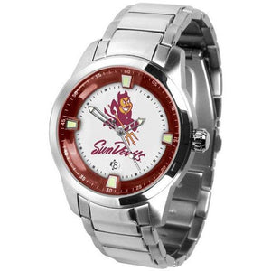 Arizona State Sun Devils Men's Titan Stainless Steel Band Watch-Watch-Suntime-Top Notch Gift Shop
