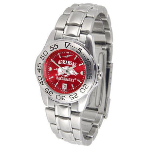 Arkansas Razorbacks Ladies AnoChrome Steel Band Sports Watch-Suntime-Top Notch Gift Shop