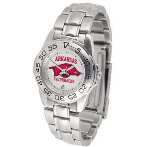 Arkansas Razorbacks Ladies Steel Band Sports Watch-Watch-Suntime-Top Notch Gift Shop