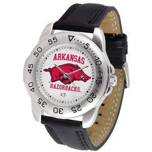 Arkansas Razorbacks Mens Leather Band Sports Watch-Suntime-Top Notch Gift Shop