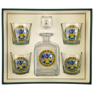 Army Logo 5 Piece Decanter Set