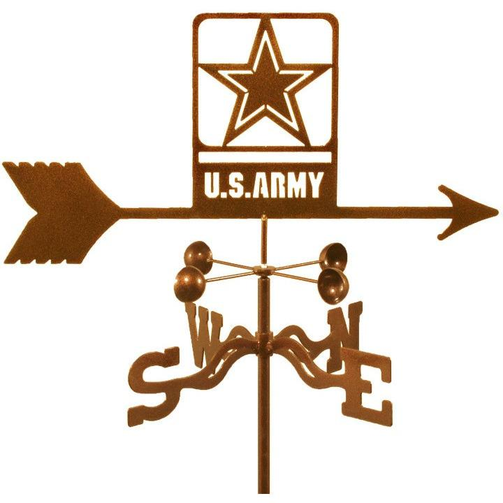 Army Weathervane - New Design-EZ VaneTop Notch Gift Shop