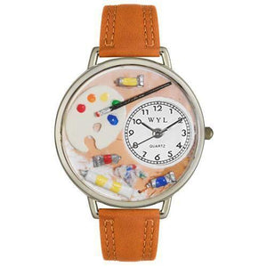 Artist Watch in Silver (Large)-Watch-Whimsical Gifts-Top Notch Gift Shop