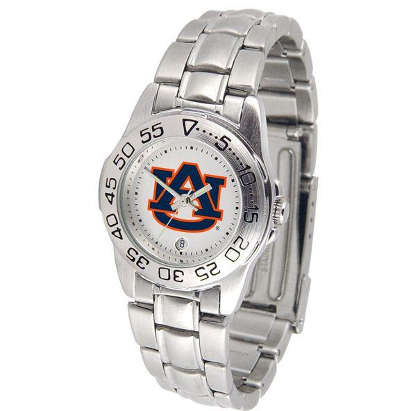 Auburn Tigers Ladies Steel Band Sports Watch-Watch-Suntime-Top Notch Gift Shop
