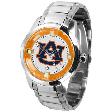 Auburn Tigers Men's Titan Stainless Steel Band Watch