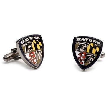Baltimore Ravens Enamel Cufflinks
