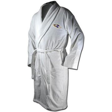 Baltimore Ravens White Terrycloth Bathrobe
