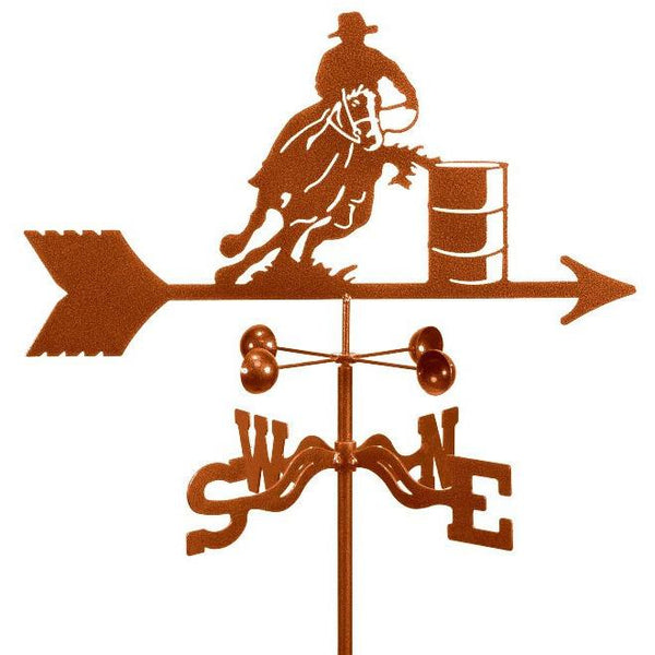 Barrel Racer Weathervane-Weathervane-EZ Vane-Top Notch Gift Shop