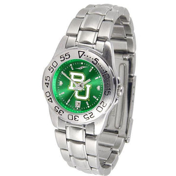 Baylor Bears Ladies AnoChrome  Steel Band Sports Watch