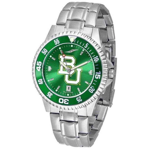 Baylor Bears Mens Competitor AnoChrome Steel Band Watch w/ Colored Bezel-Watch-Suntime-Top Notch Gift Shop