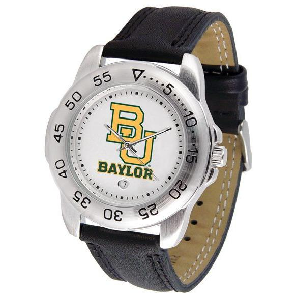 Baylor Bears Mens Leather Band Sports Watch-Watch-Suntime-Top Notch Gift Shop