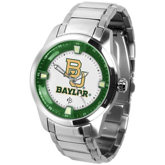 Baylor Bears Men's Titan Stainless Steel Band Watch-Watch-Suntime-Top Notch Gift Shop
