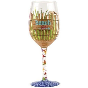 Beach Girl Wine Glass by Lolita®-Designs by Lolita® (Enesco)-Top Notch Gift Shop