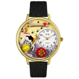 Beagle Watch in Gold (Large)-Watch-Whimsical Gifts-Top Notch Gift Shop