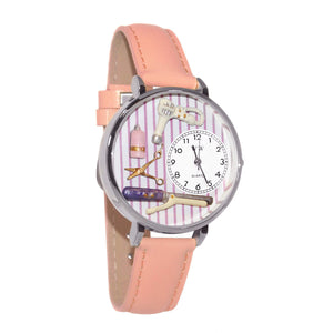 Beautician Female Watch in Silver (Large)-Watch-Whimsical Gifts-Top Notch Gift Shop