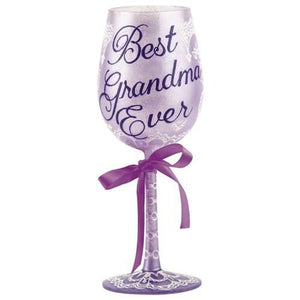 Best Grandma Ever Wine Glass by Lolita®-Designs by Lolita® (Enesco)-Top Notch Gift Shop