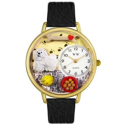 Bichon Watch in Gold (Large)-Watch-Whimsical Gifts-Top Notch Gift Shop