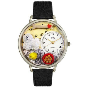 Bichon Watch in Silver (Large)-Watch-Whimsical Gifts-Top Notch Gift Shop