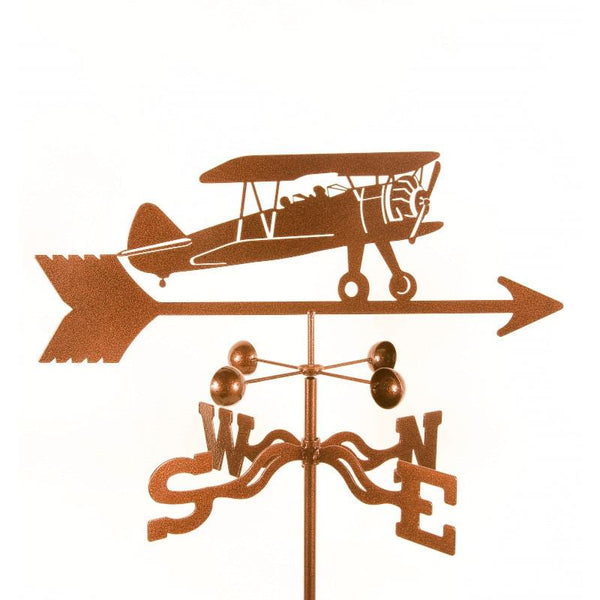 Biplane Weathervane-Weathervane-EZ Vane-Top Notch Gift Shop