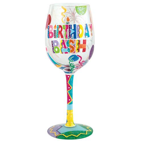 Birthday Bash Wine Glass by Lolita®-Designs by Lolita® (Enesco)-Top Notch Gift Shop