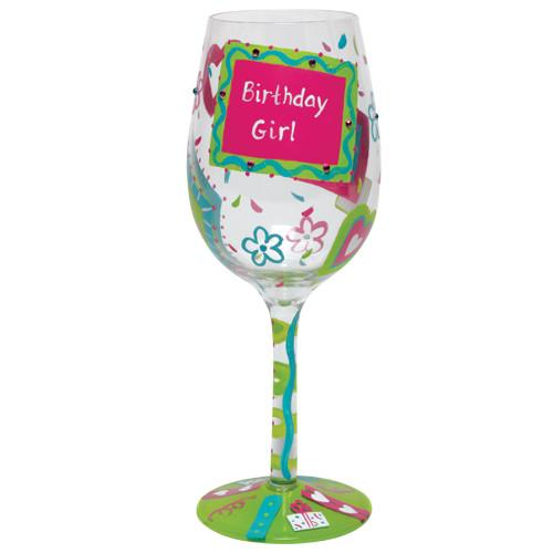 Birthday Girl, Too Wine Glass by Lolita®-Designs by Lolita® (Enesco)-Top Notch Gift Shop