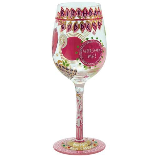 Birthday Goddess Wine Glass by Lolita®-Designs by Lolita® (Enesco)-Top Notch Gift Shop