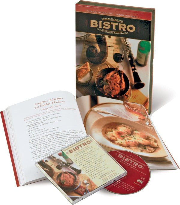 Bistro - Romantic Cookbook with French Music-Book-Menus and Music-Top Notch Gift Shop