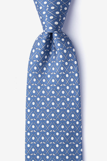 Going Clubbing 100% Silk Men's Golf Tie